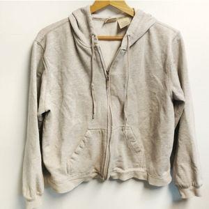 St John's Bay Gray Zip Up Sweatshirt